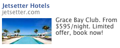 "After Googling ""Caribbean resorts,"" this started popping up immediately on my Facebook page."